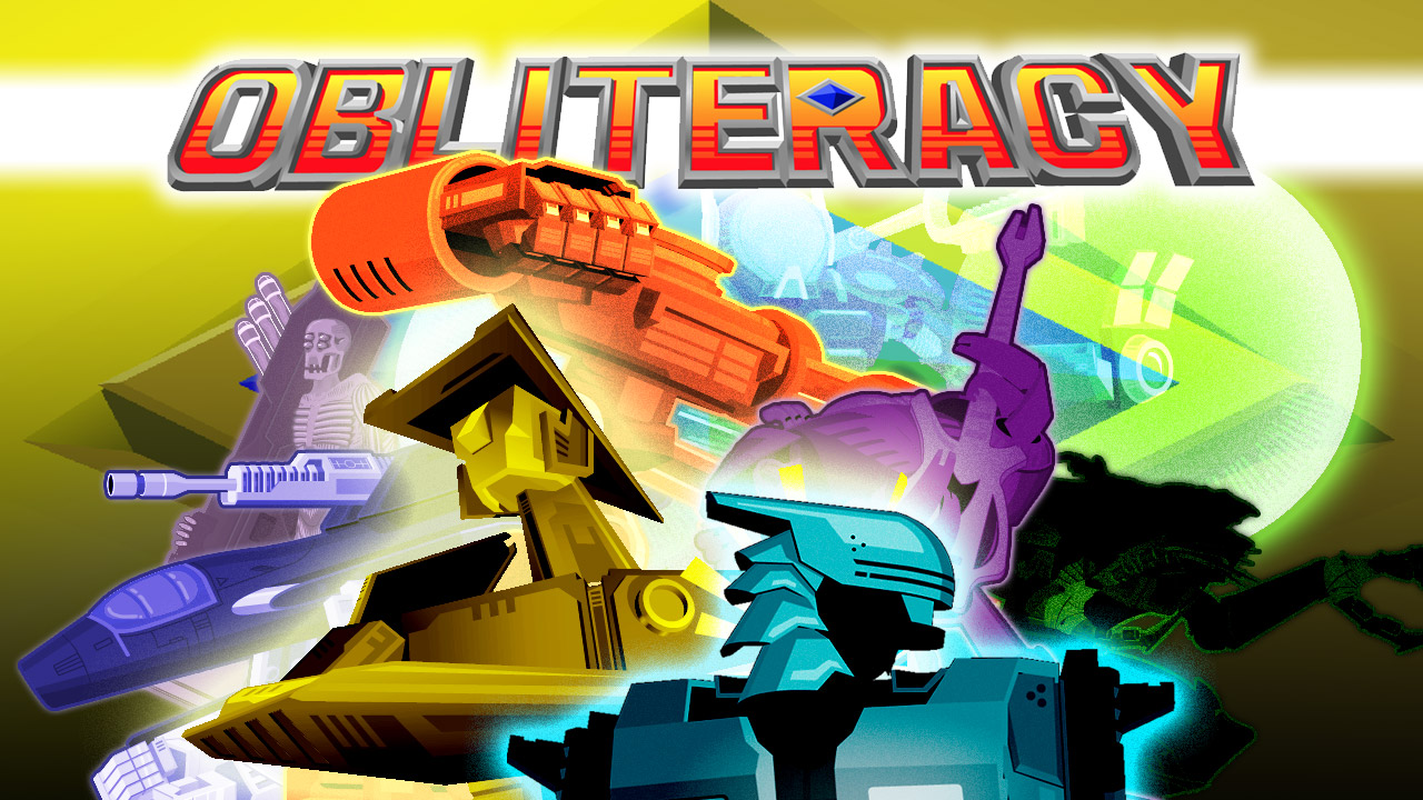 Obliteracy promo screen: an image containing the eight Champions of Obliteracy in various poses underneath the game title
